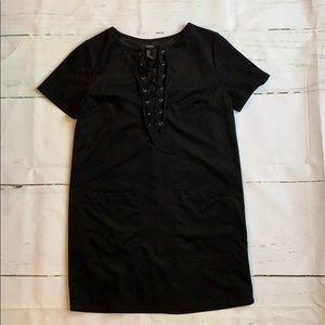 Black microfiber dress or tunic